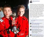 Sportsmanship award winner Ryan Begando
