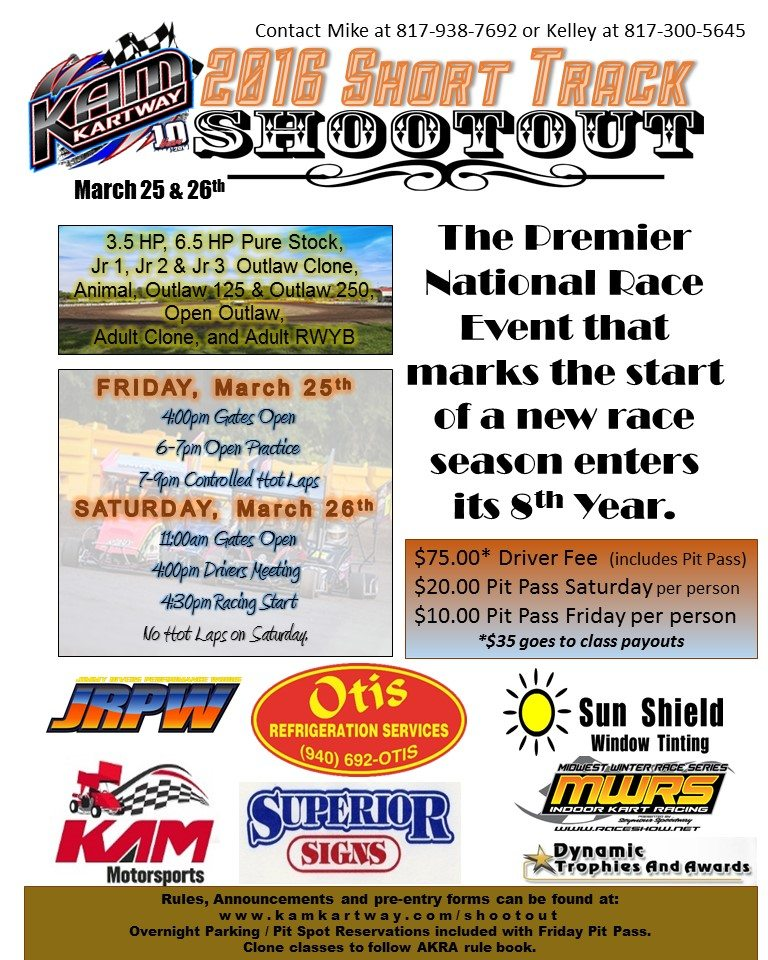 Short Track Shootout with sponsors image