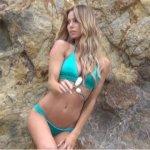 Sunset Blonde Bikini Shoot
