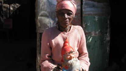 Otjivero-Omitara in Namibia ist ein armes Wellblechhüttendorf