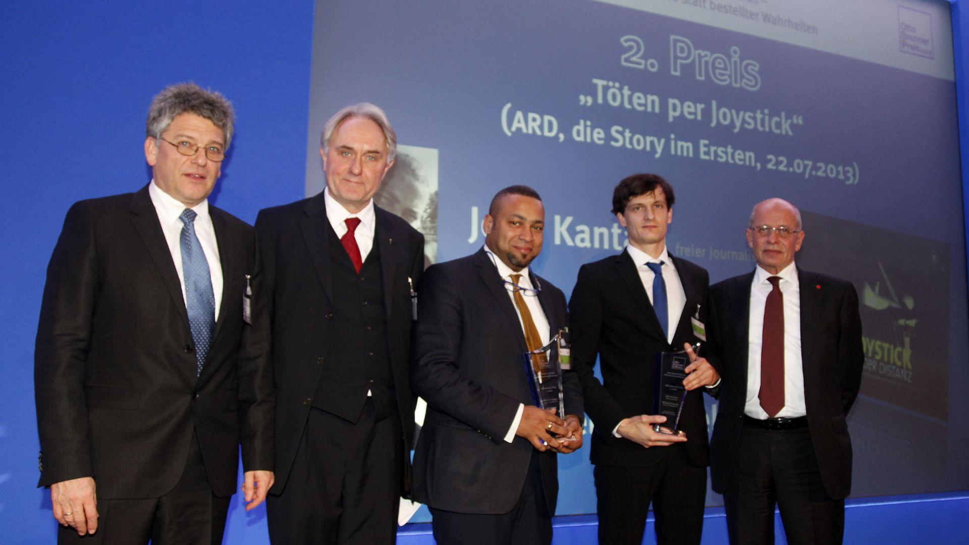 v.l.n.r. Jupp Legrand, Prof. Dr. Volker Lilienthal, Prof. John A. Kantara, Michael Fräntzel, Berthold Huber