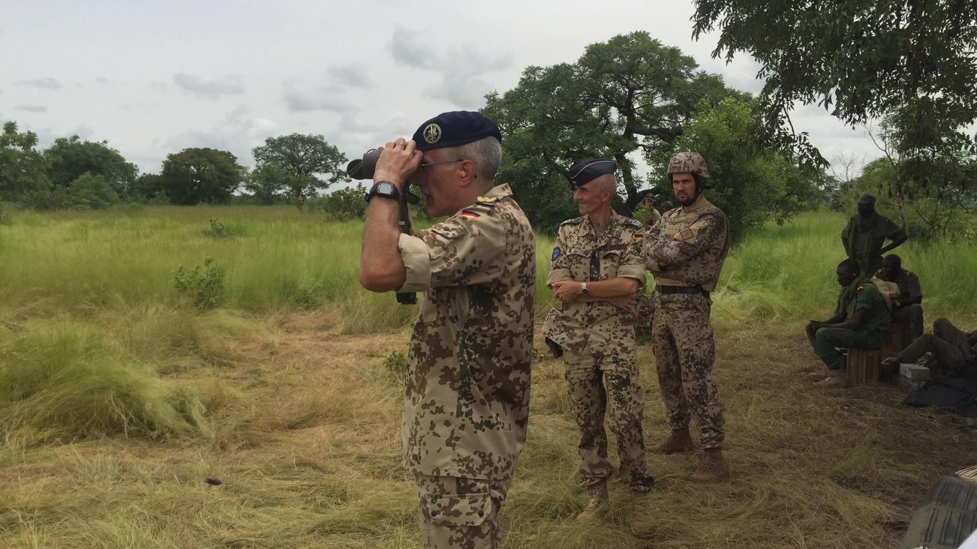 Gen. Pfrengle at the shooting range