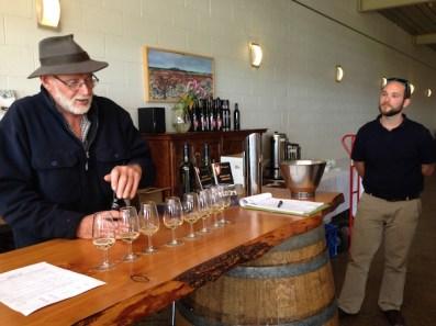 Wine tasting at Borrodell Vineyard, Orange Wine Tours