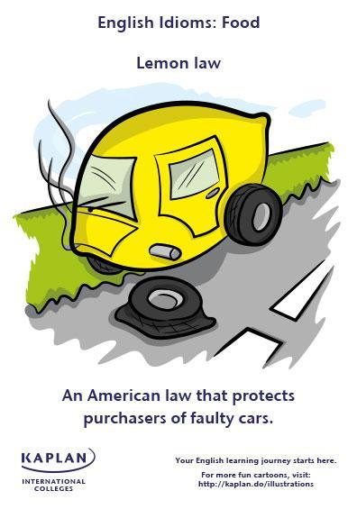 Idioms: Lemon law | Kaplan Blog