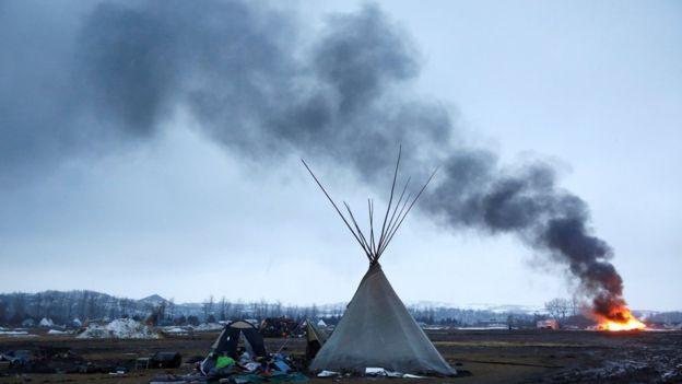 Kuzey Dakota'da boru hattına karşı bir yıldır süren işgal eylemi gözaltıyla bitti