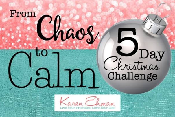 Need a little less Christmas Chaos? FREE 5 day email devotional challenge from Karen Ehman