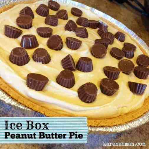 Love peanut butter? Need a simple dessert that doesn't require heating up the oven? Ice Box Peanut Butter Pie. One of my most requested recipes from karenehman.com