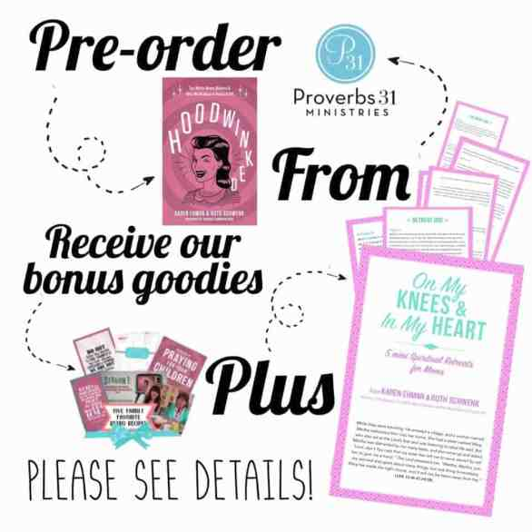 Order Hoodwinked from Proverbs 31 & get TONS of freebies!