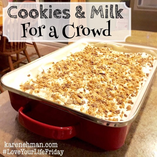 The easiest dessert ever! From #LoveYourLifeFriday at karenehman.com