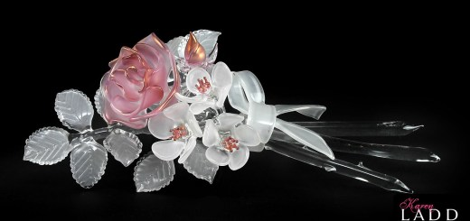 Posey Rose | Floral Glass Bouquet by Karen Ladd