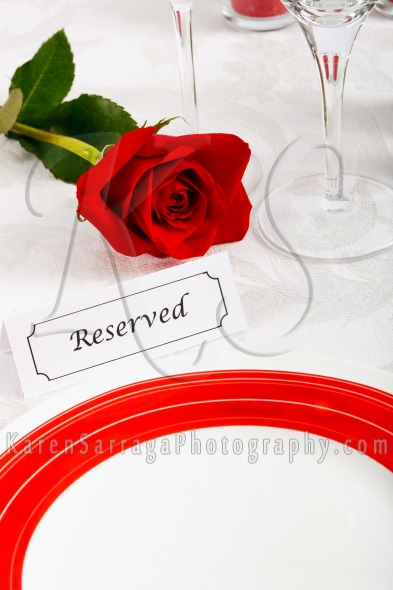 Stock Image: Reserved Restaurant Table