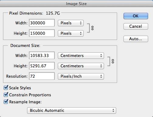 Photoshop image size