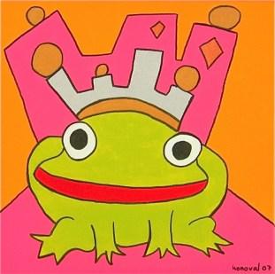 frog prince, pink, Karin Konoval