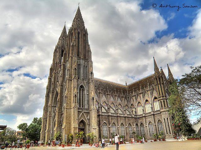St Philomena's Church, Mysore. Photographer Anthony Samson