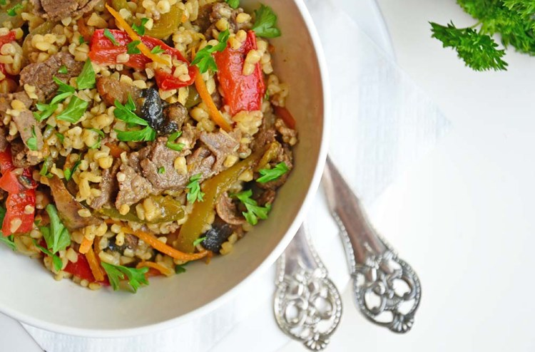 Beef stir fry with ginger sauce