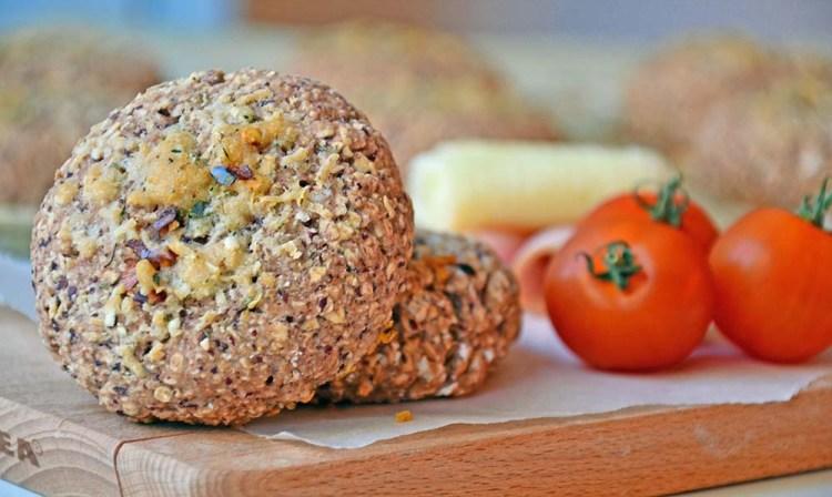 Grove, proteinrike scones med bønner