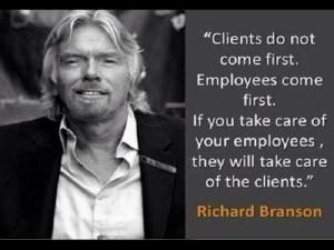 Richard Branson über Kunden