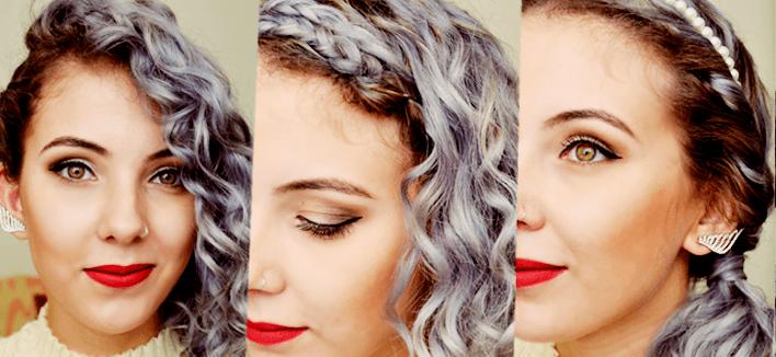 VÍDEO: 3 opções de penteados rápidos pro Reveillon