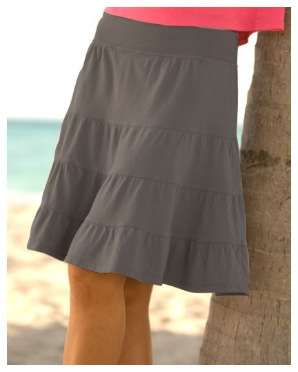 Fresh Produce tiered jersey skirt