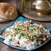 Fatteh (Pita with Chickpeas and Yogurt) and a Chickpea Blog Hop