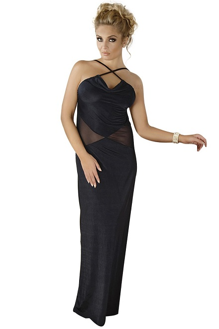 schwarzes langes Kleid M/1068 von Andalea