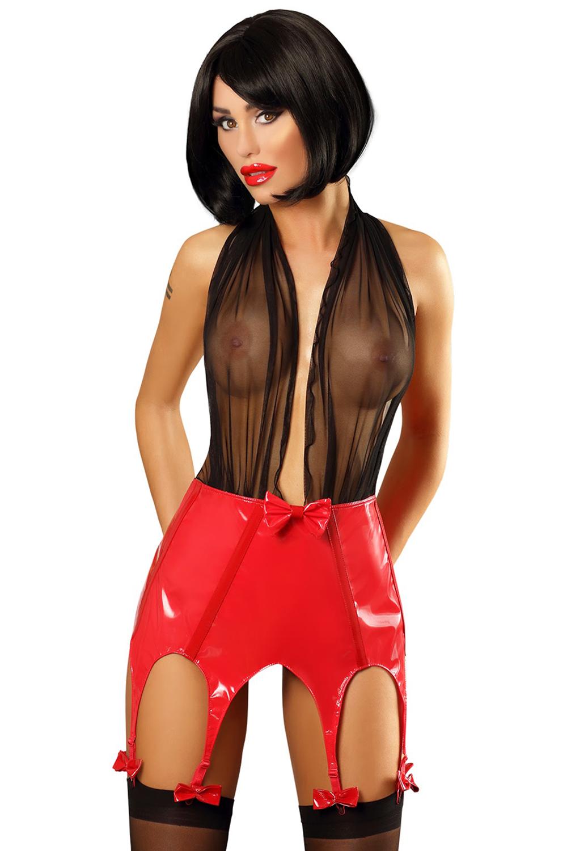 schwarz/rotes Predatory Woman Set von Lolitta