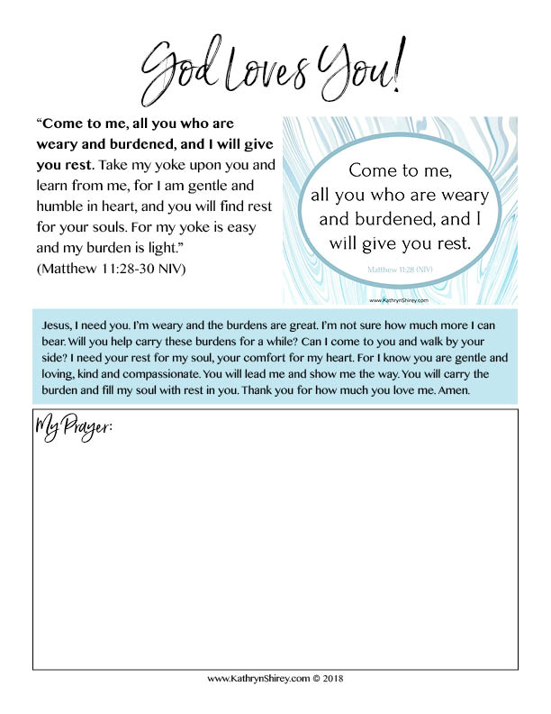 Free printable - Top 10 Bible Verses for Trusting God in Hard Times