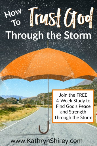 Want a better way to face the storms of your life? Learn to trust God and you'll find his peace and strength in any storm. Discover 4 keys to trusting God. (Join the FREE 4-week Trusting God study and start finding God's peace and strength today!)