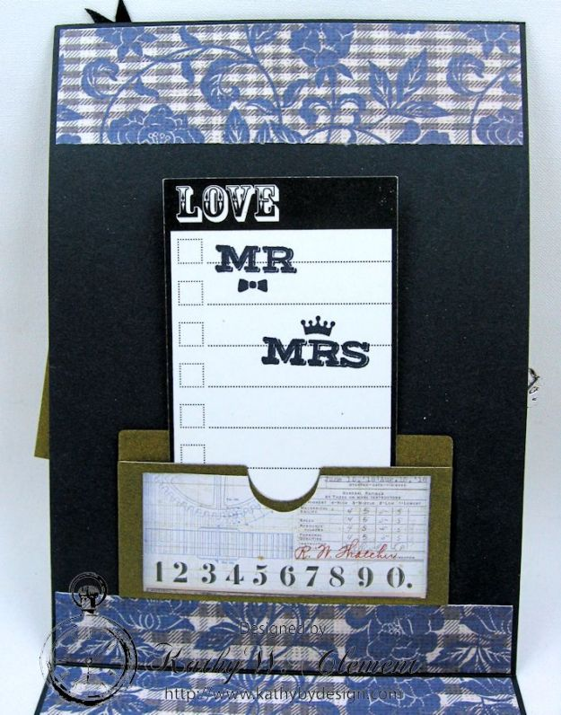 Dapper Wedding Card by Kathy Clement for Funkie Junkie Boutique 07