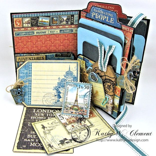 Oh the Places You'll Go Mini Album Frilly and Funkie Challenge by Kathy Clement 02