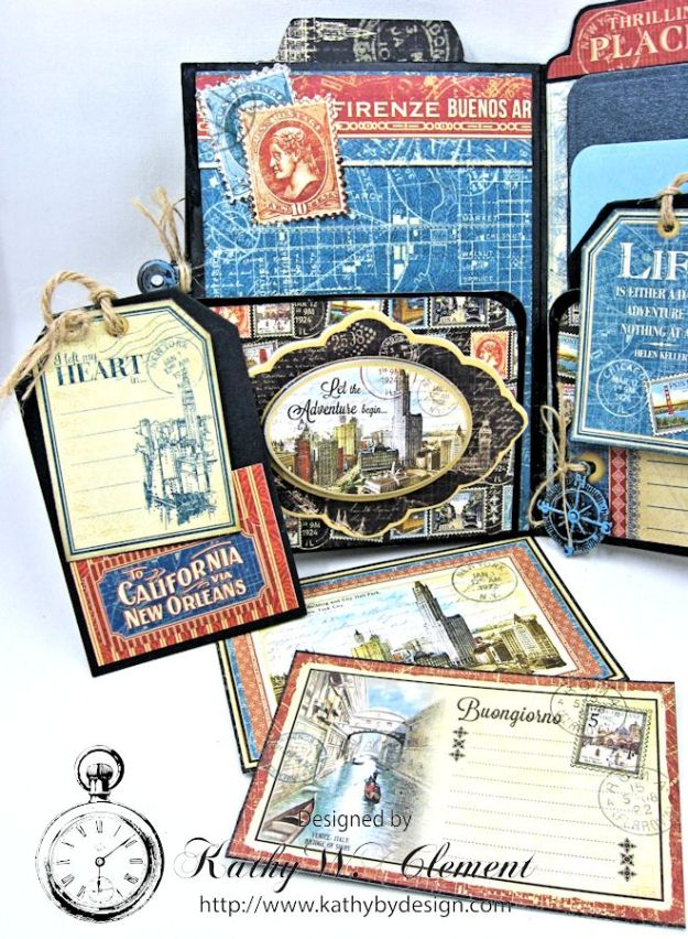 Oh the Places You'll Go Mini Album Frilly and Funkie Challenge by Kathy Clement 07
