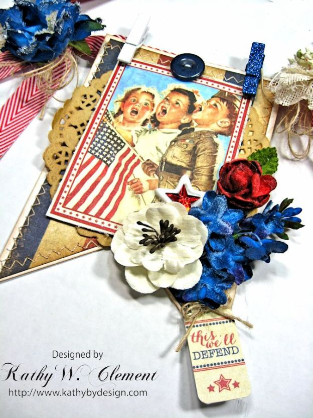 4th of July Banner by Kathy Clement for Petaloo International Product Authentique Honor Photo 5
