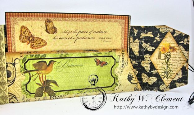 GSL Steampunk Butterfly Gift Wallet Tutorial by Kathy Clement for Gypsy Soul Laser Cuts Product by Graphic 45 DIY and Botanicabella Papers 12