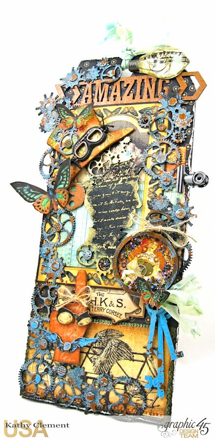 Steampunk Debutante Tag Folio by Kathy Clement for Gypsy Soul Lasercuts Product Graphic 45 Steampunk Debutante 03