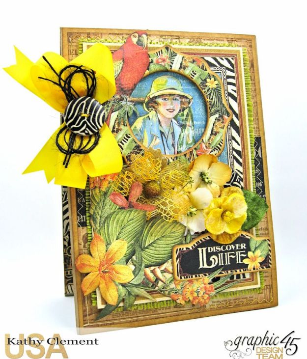 Safari Adventure Pocket Card Snapguide Tutorial by Kathy Clement Graphic 45 Safari Adventure Photo 1