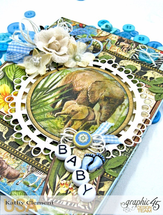 Welcome to our Jungle Baby Boy Card, Safari Adventure, by Kathy Clement, Product by Graphic 45 Photo 3