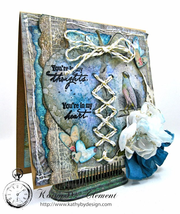 You're in My Heart Sympathy Card by Kathy Clement for Really Reasonable Ribbon, Product by Really Reasonable Ribbon and Canvas Corp Brands Photo 2