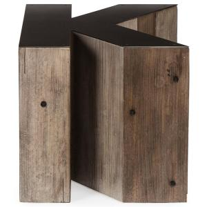 Pristine Bea Industrial Loft Alphabet Letter K Wood Side Table Kathy Kuo Home Wood Side Table Target Wood Side Table Amazon
