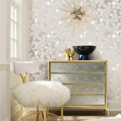 Silver Sparkle Modern Classic Removable Wallpaper   Kathy Kuo Home
