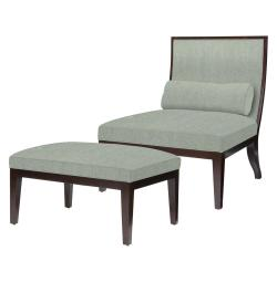 Supple Ottoman Lounge Chairs Ottoman Kathykuo Home Hayden Herringbone Linen Slipper Chair Ottomans Hayden Herringbone Linen Slipper Chair