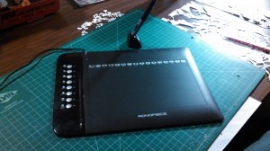 This knock-off version of a wacom is generically called a graphics tablet.