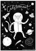 Catstronaut Colouring Page