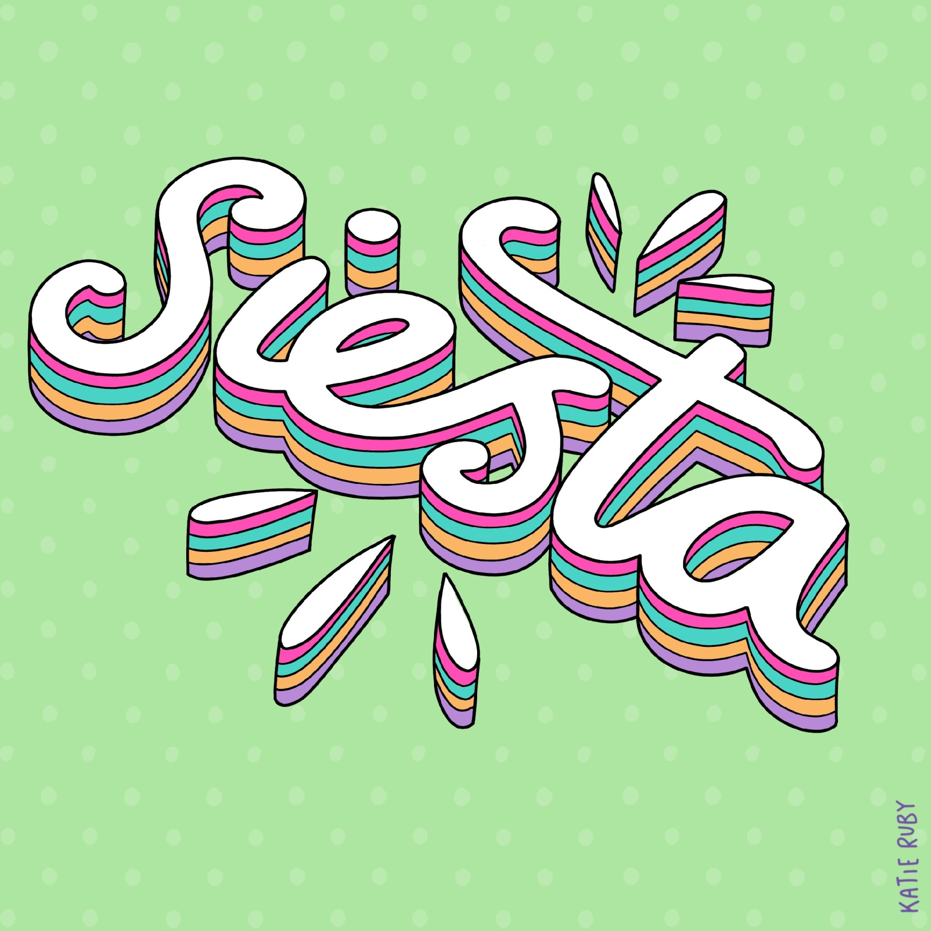 Siesta Typography Handlettering