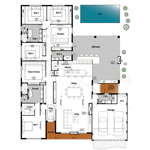 Medium Crop Of 4 Bedroom Floor Plans