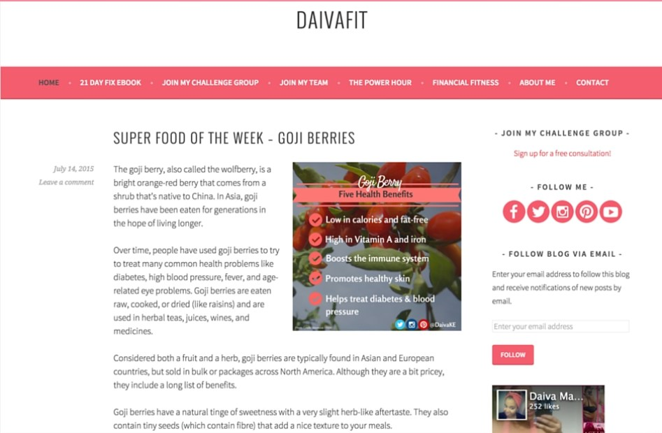 I customized and launched Daiva's website to give her brand a strong online presence.