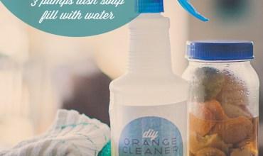 DIY Natural Household Cleaner | Orange Peel Magic!