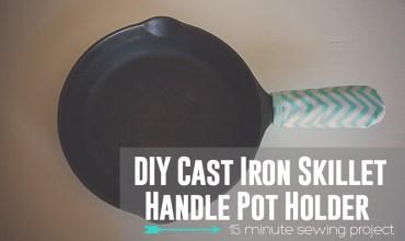 Cast Iron Skillet Pot Holder: Handle
