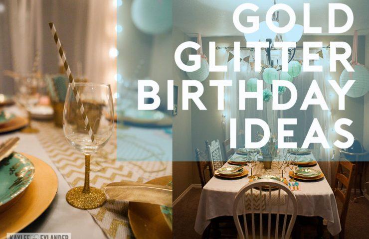 Gold Glitter Mint & Pink Birthday Ideas | Tween Birthday Party