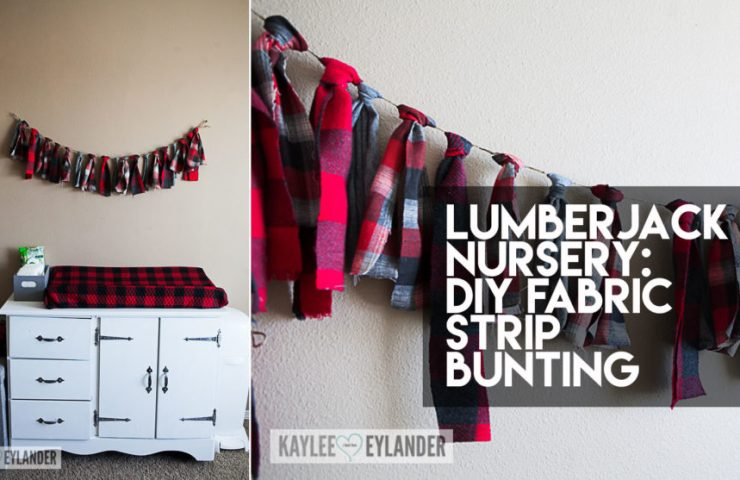 No Sew Fabric Strip Bunting | Lumberjack Nursery