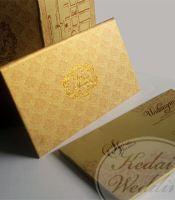 undangan pernikahan warna gold